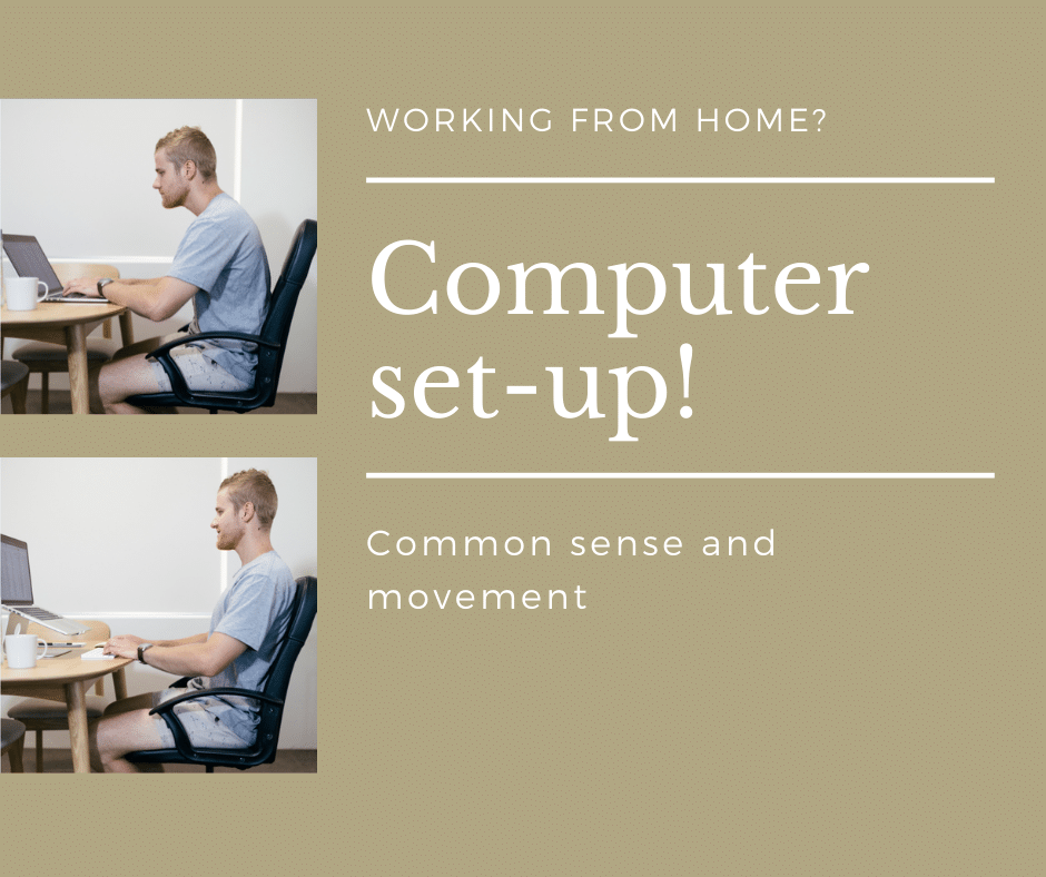 Computer set-up back pain prevention