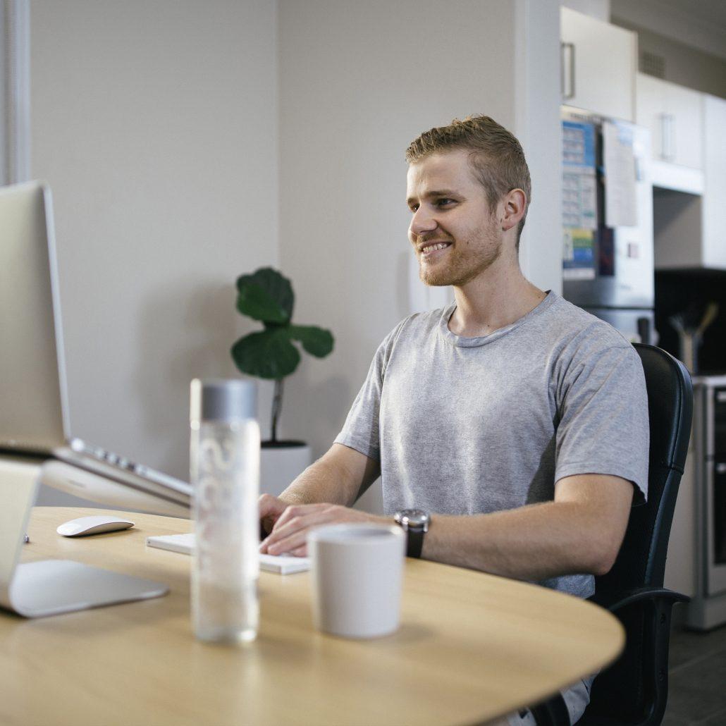 Working form home computer ergonomics